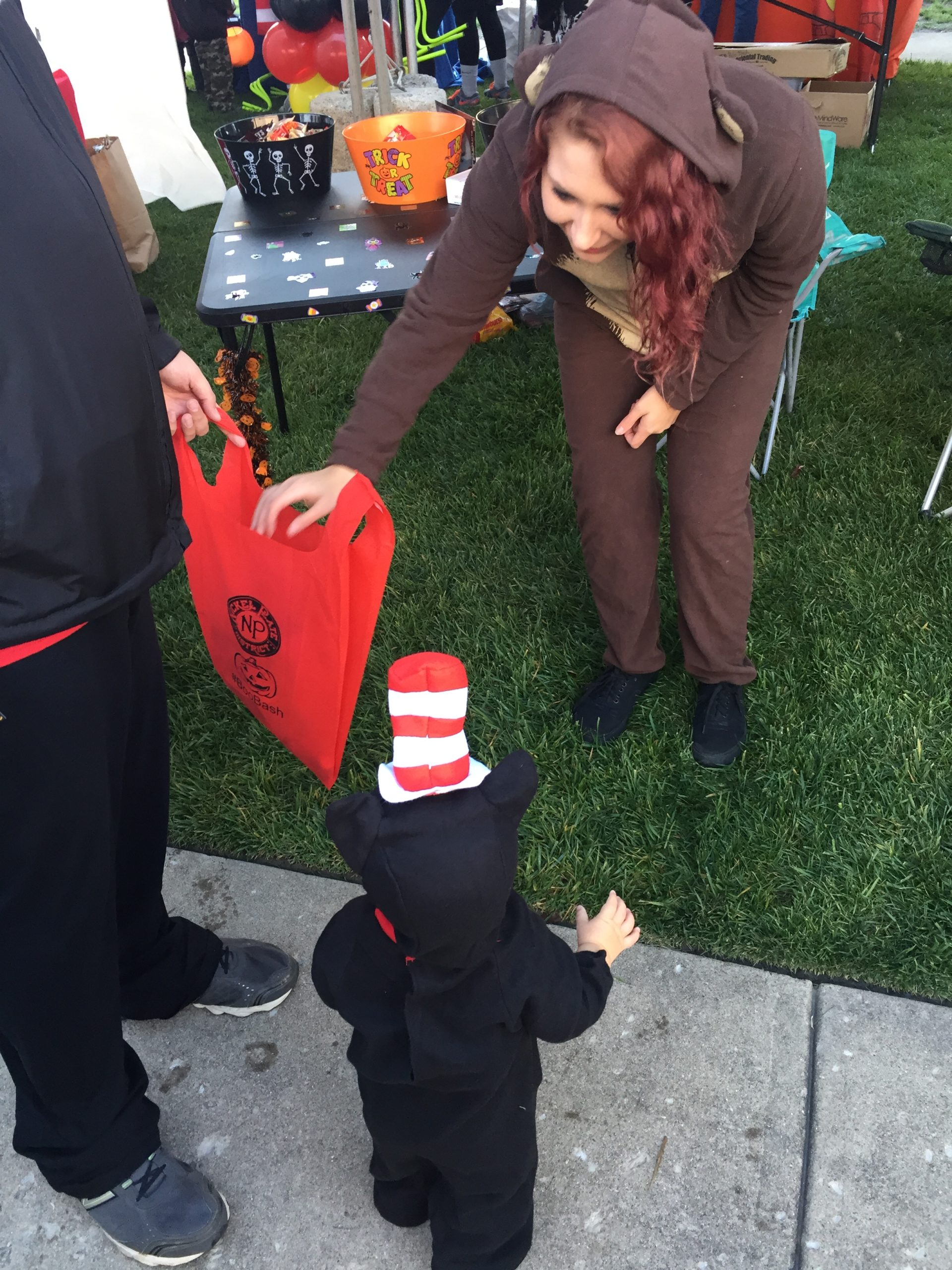 vendor giving out candy