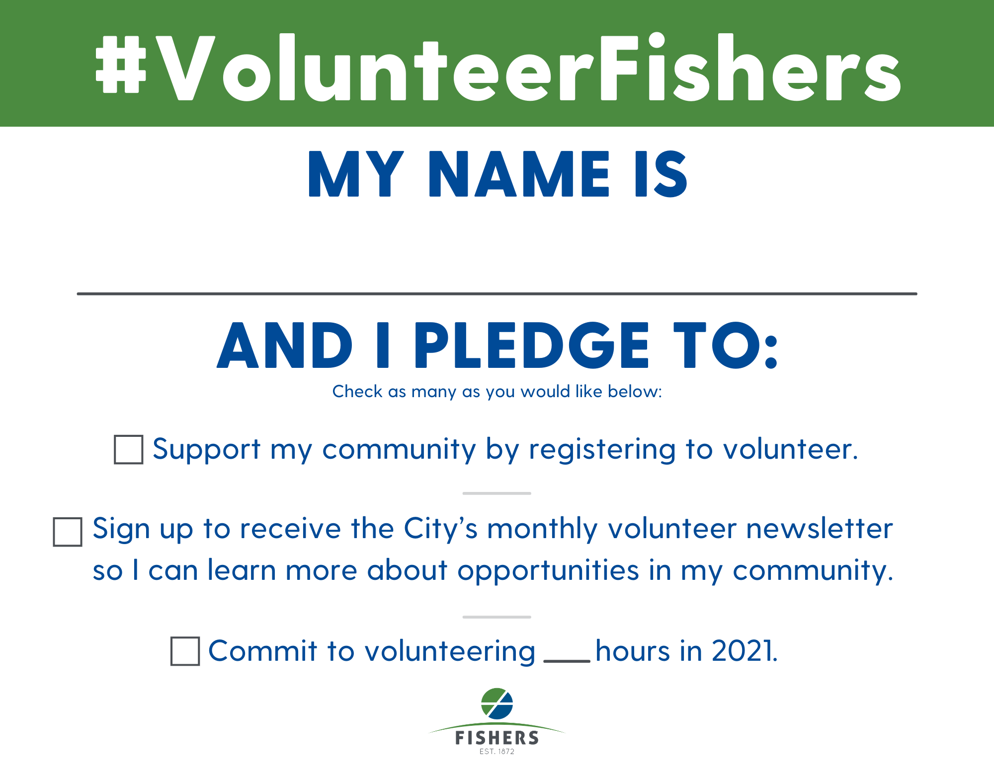 volunteer pledge
