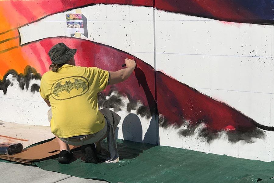 Art Wall in-progress