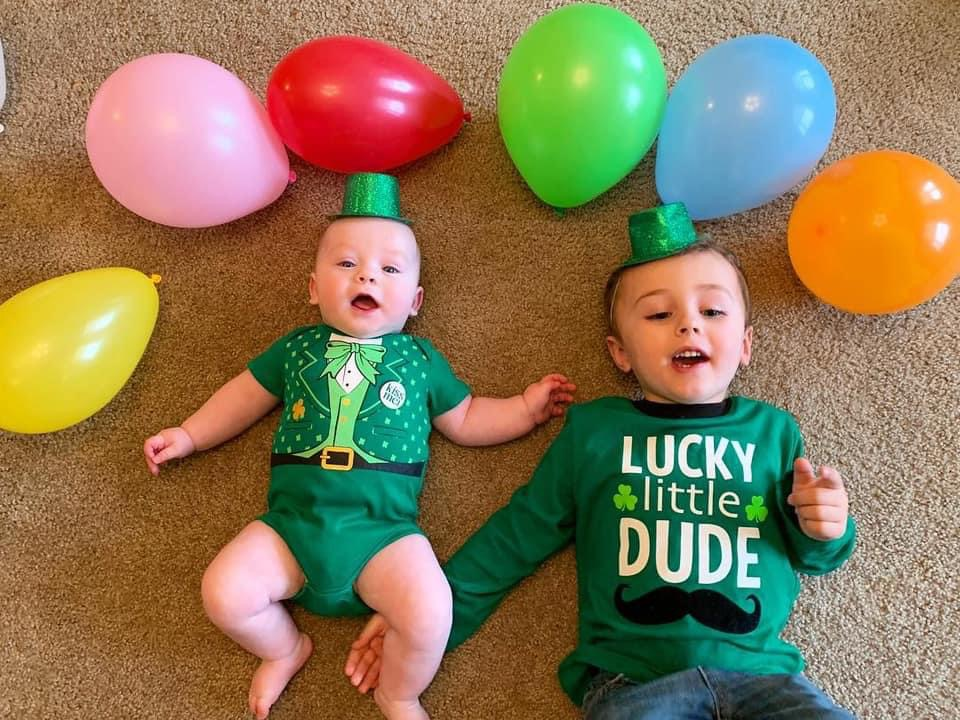 kids in leprechaun outfit
