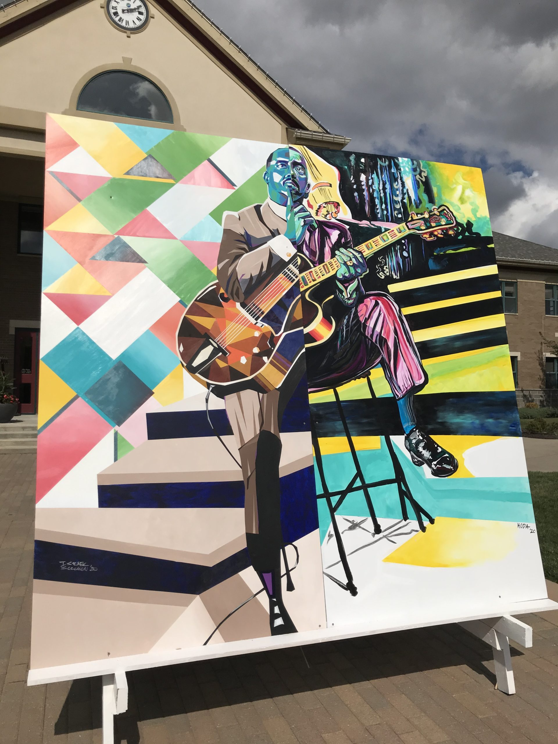 wes montgomery mural
