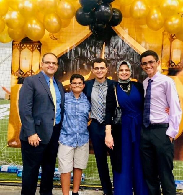 family celebrating ramadan
