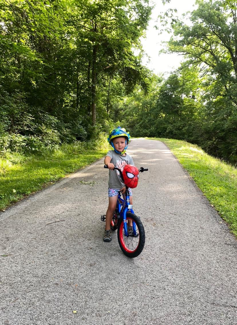 boy riding bike