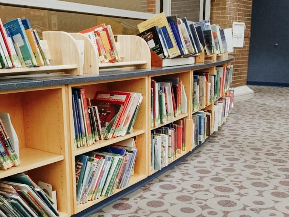 books on book shelves