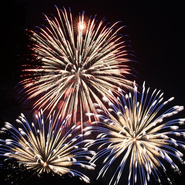 three fireworks
