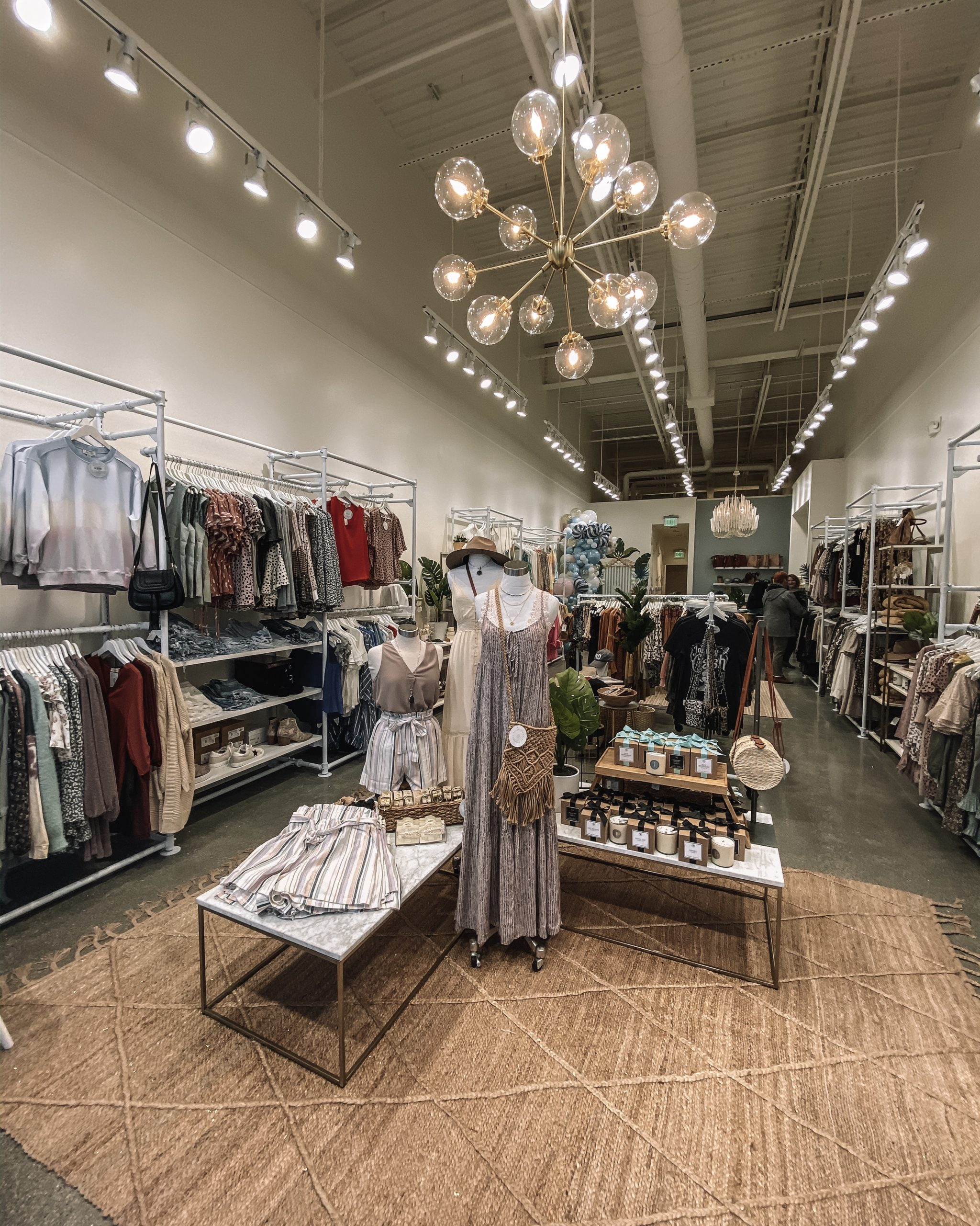 the inside of a clothing boutique