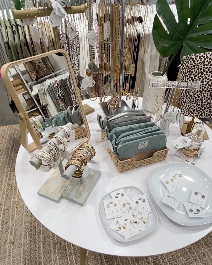 jewelry laid out on a table