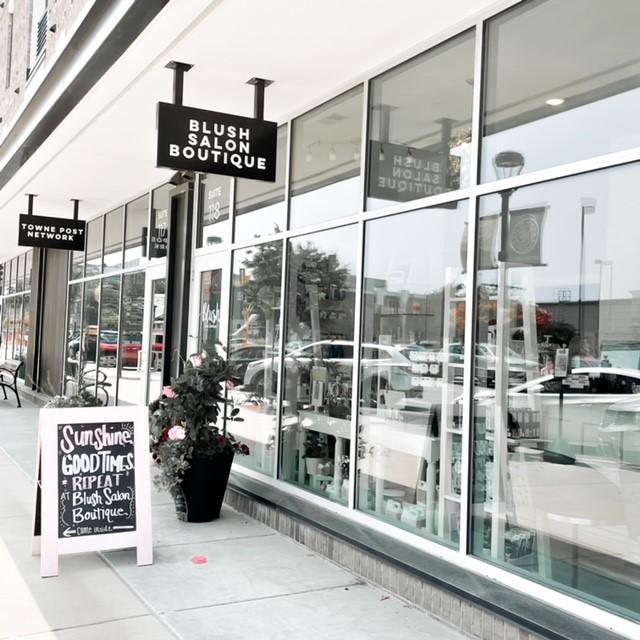 the outside of blush salon boutique