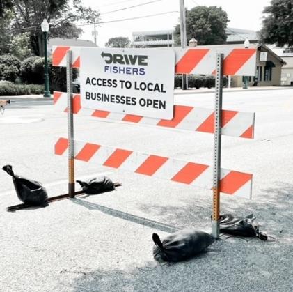 a construction sign