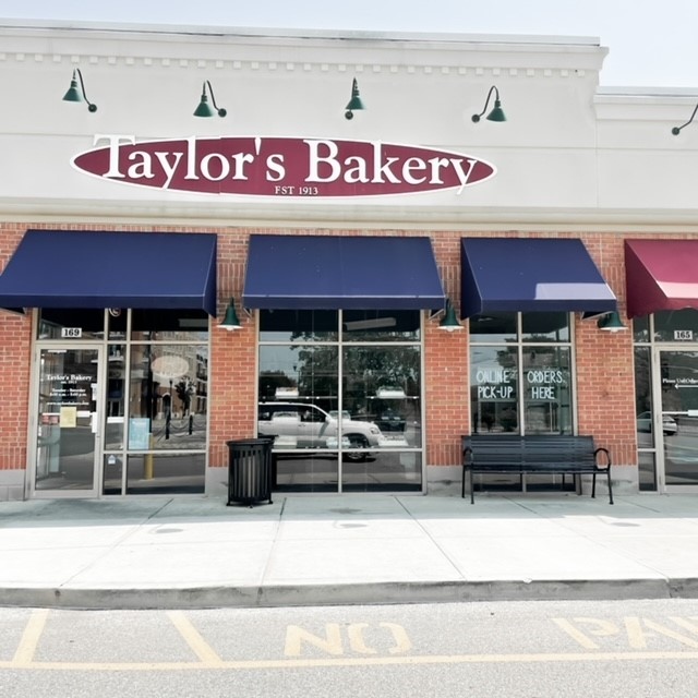 the outside of taylors bakery