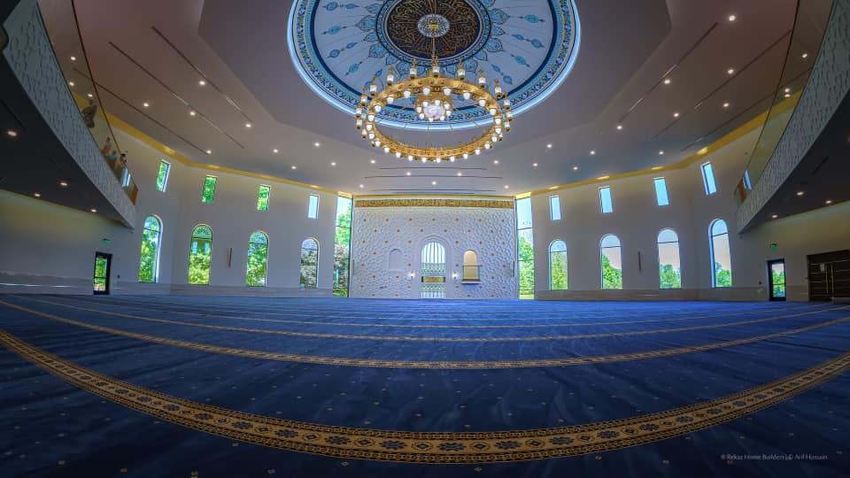 a prayer area inside of a mosque