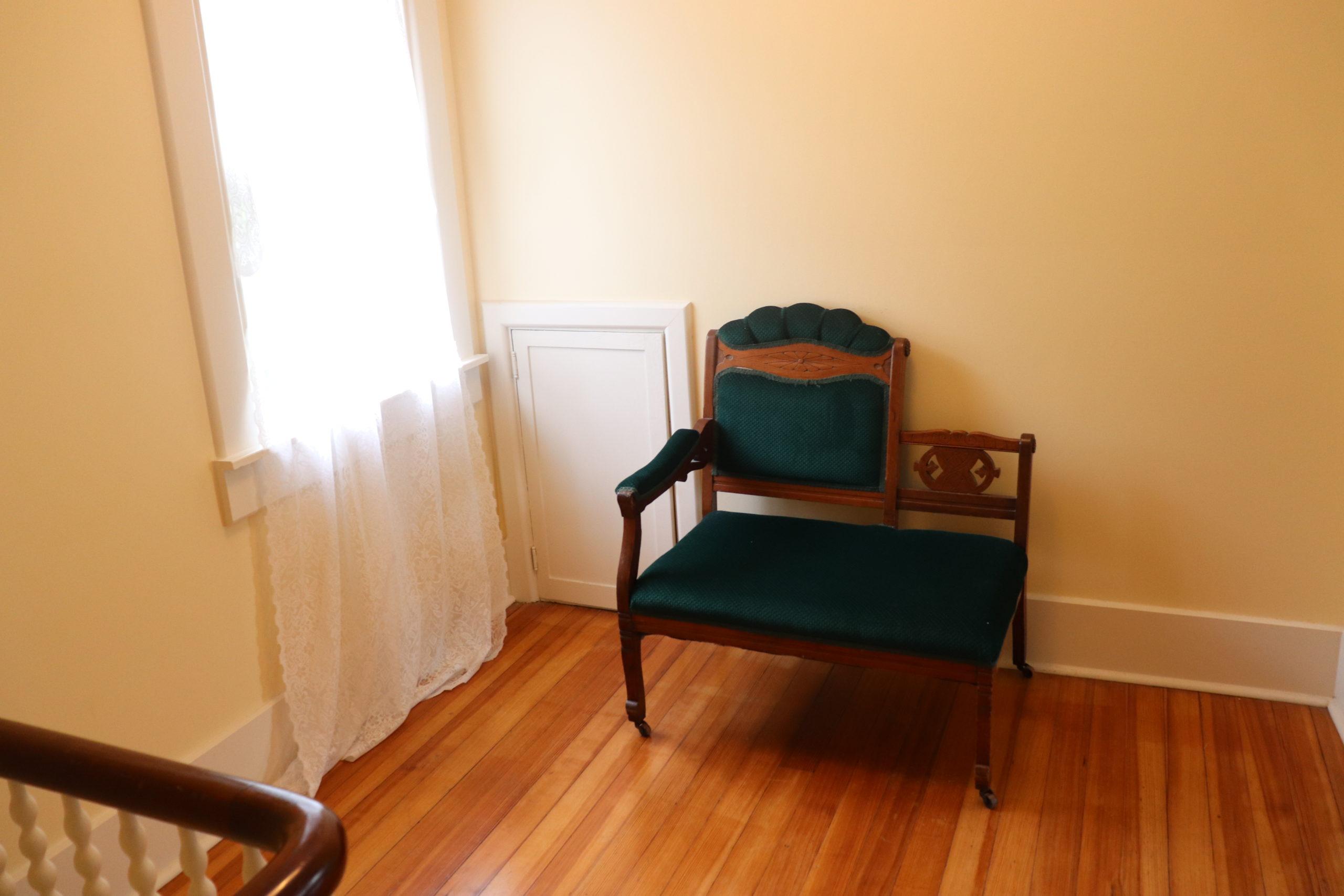 a chair in a hallway
