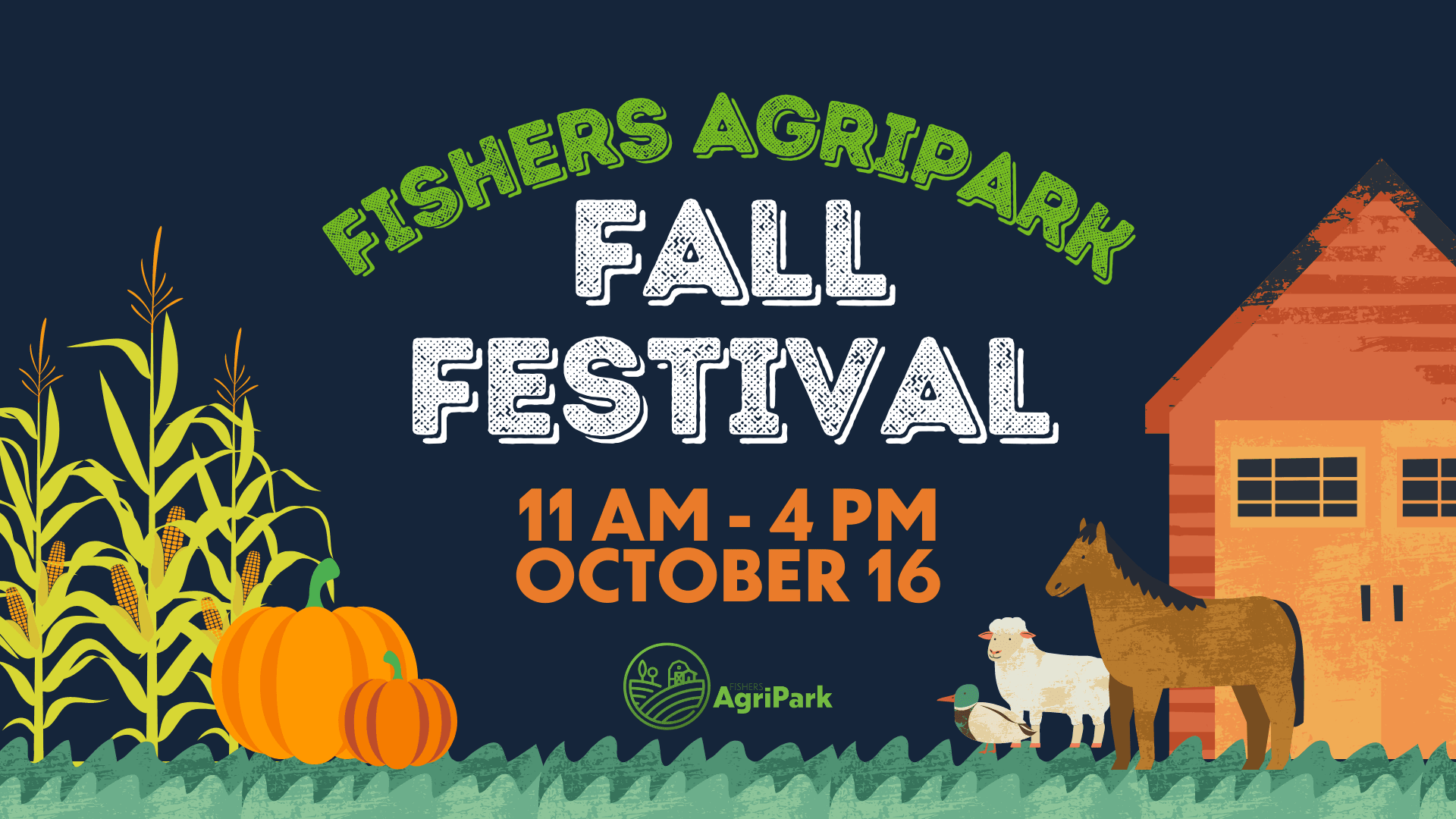 fishers agirpark fall festival. 11 am - 4 pm. october 16