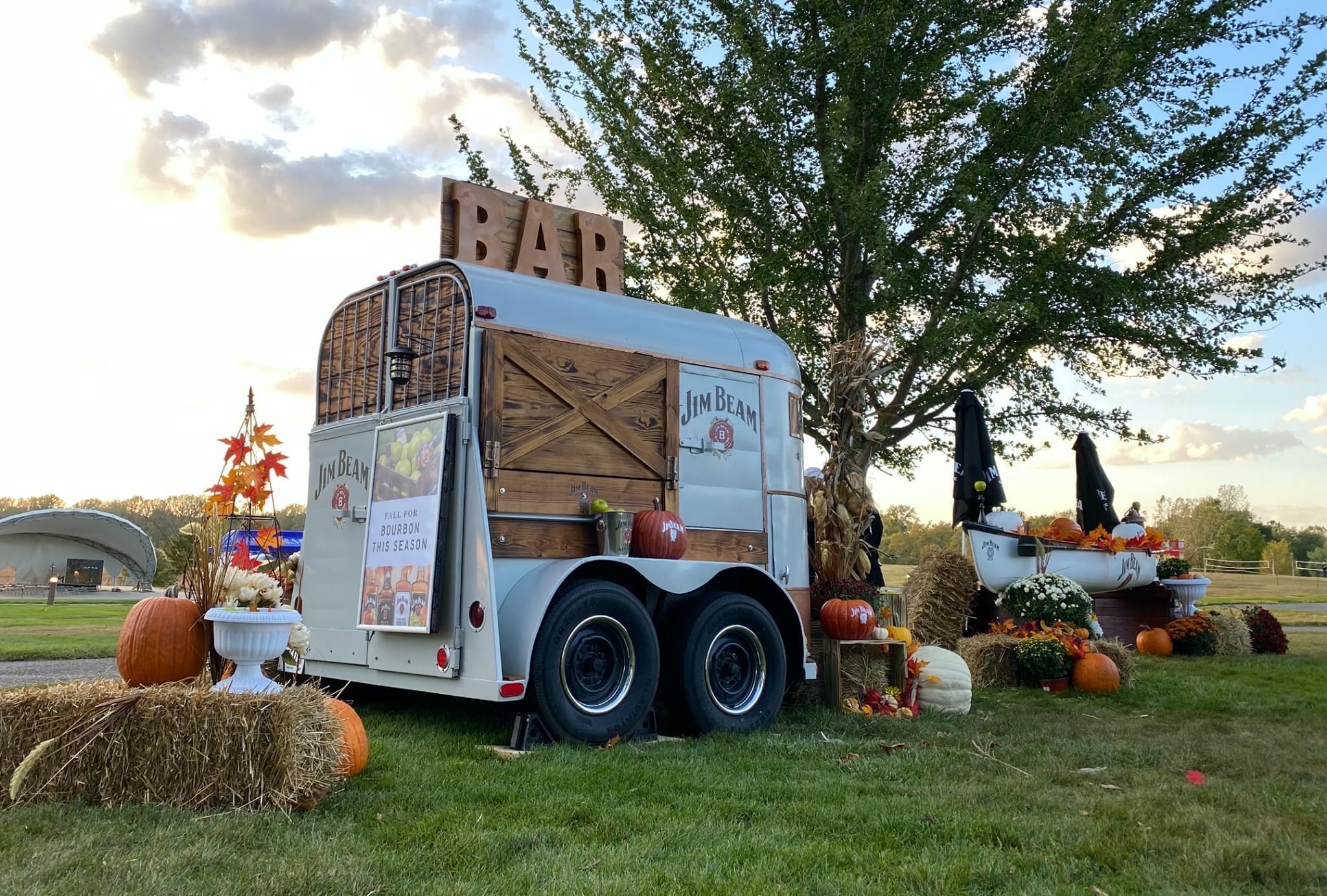 a jim beam drink truck