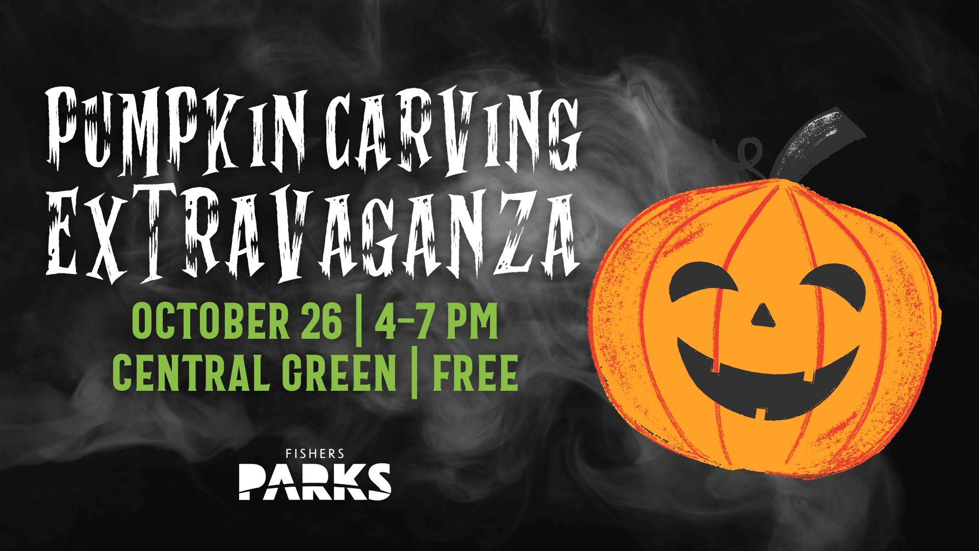 pumpkin carving extravaganza. october 26, 4 - 7 pm, central green, free
