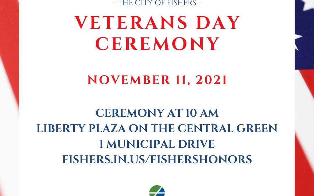 Fishers Veterans Day Ceremony